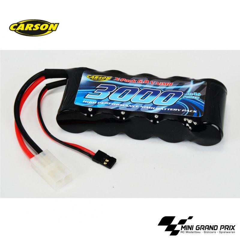 Carson NiMH-RX-Pack-6V-SubC3000mAh-TAM/JR 500608143