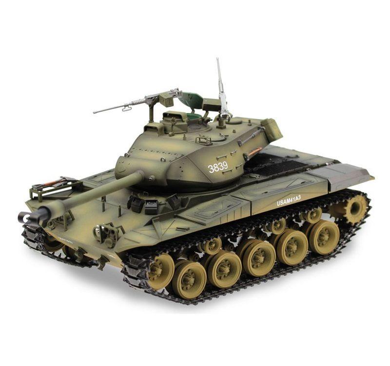 Torro 1/16 RC Panzer M41 Walker Bulldog BB 1112873525 mit Metallketten + Airbrush – Bild 1
