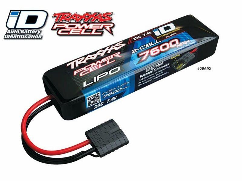 Traxxas Power Cell LiPo 7600mAh 7,4V 25C TRAXXAS LIPO mit iD-Stecker 2869X