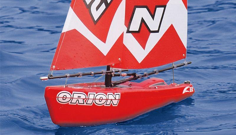 Amewi Orion Segelboot, rot 46,5 cm, 2,4GHz 26058 – Bild 2
