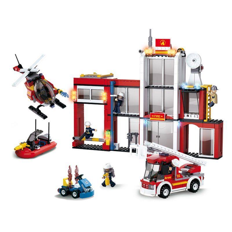 Sluban Steckbausteine Feuerwehrwache M38-B0631