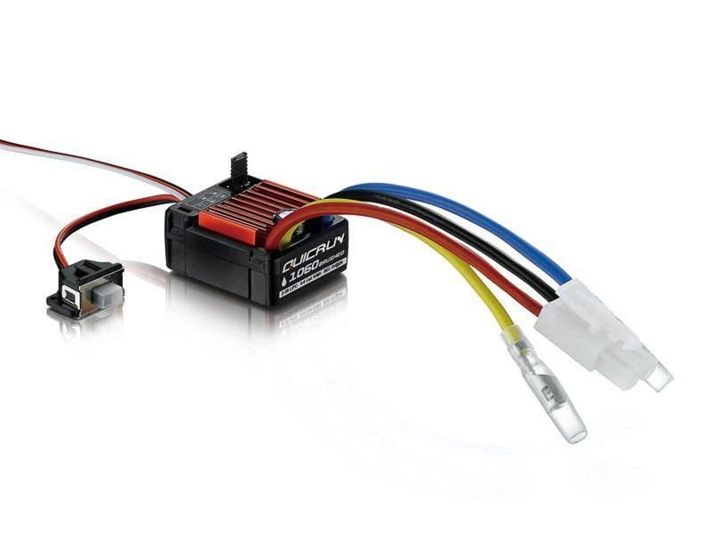 Hobbywing QuicRun 1060 Brushed Regler 60A für 1:10 HW30120201 – Bild 1