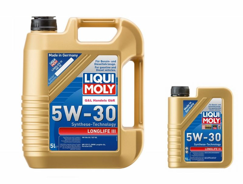 Liqui Moly Motorenöl Longlife 5W-30 6 Liter (8,83€ / 1L) 20647 VW 504 00