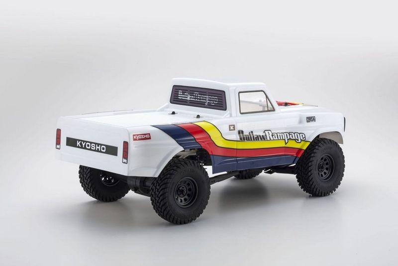 Kyosho OUTLAW RAMPAGE 1:10 2WD RC TRUCK WEISS RTR mit Akku 34361T1B – Bild 3