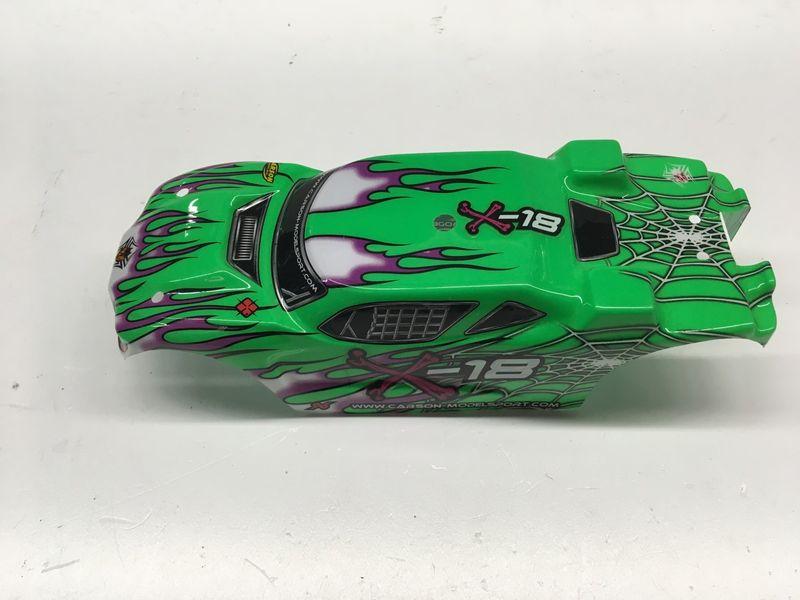 Carson 1:18 Karosserie Grün für X-18 Truggy
