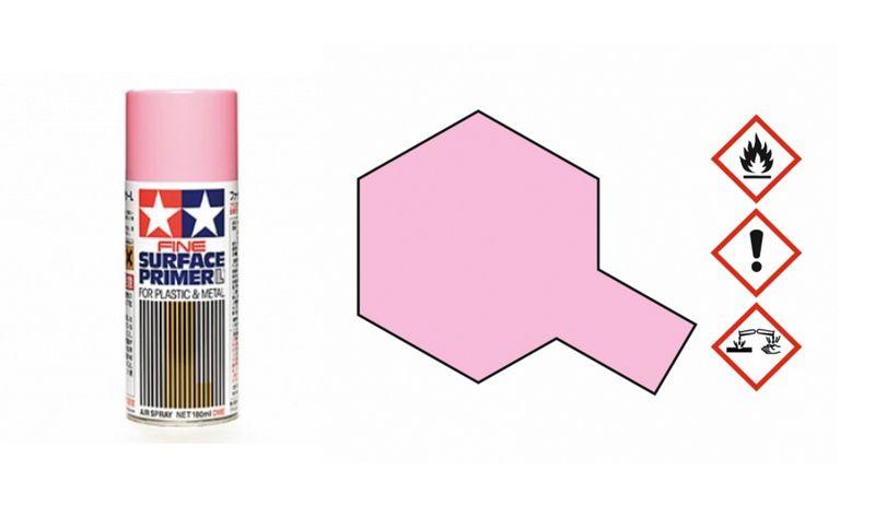 Tamiya Grundierungsspay (fein) Pink 180ml (100ml/€ 7,17) 87146