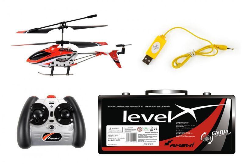 Amewi Helikopter Level X IR im Alukoffer IR / 3 Kanal / ø180mm 25072  – Bild 4