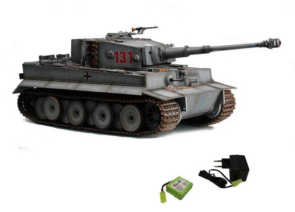 Wsn Torro 116 Rc Tiger 1 Mit Ir Gefechtssystem Grau 1112100708 Mit Akku