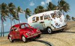 Scalextric 1:32 VW Beetle und Camper Van – W.C. Rat HD C3966A 001