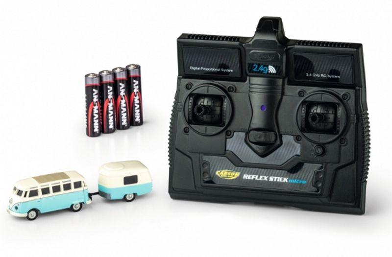 Carson 1:87 VW T1 Samba Bus mit Anhänger 2.4G RTR 500504122