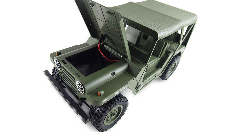 Amewi U.S. Militär Geländewagen 1:14 4WD RTR, Military grün 22386 – Bild 3