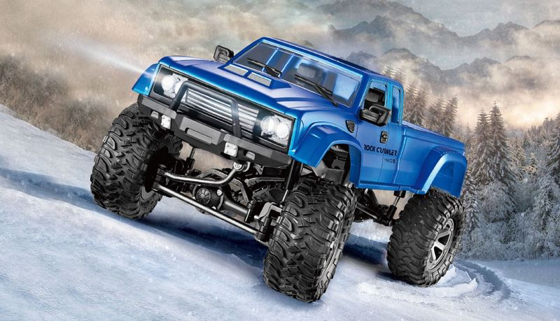 Amewi Pickup Truck FPV Kamera Crawler 4WD 1:16 Blau 22391 mit Ketten und Rädern – Bild 4