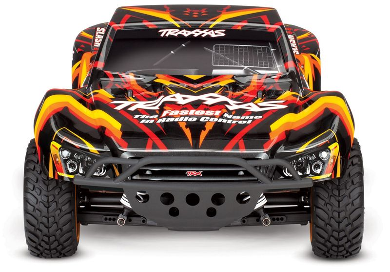 TRAXXAS Slash 1:10 2.4GHz 4X4 ORANGE/ROT RTR +12V-LADER+AKKU BRUSHED 68054-1 – Bild 2