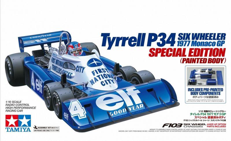 Tamiya 1:10 RC F1 Tyrrell P34 Monaco mit lackierter Karosserie 47392 Bausatz – Bild 1