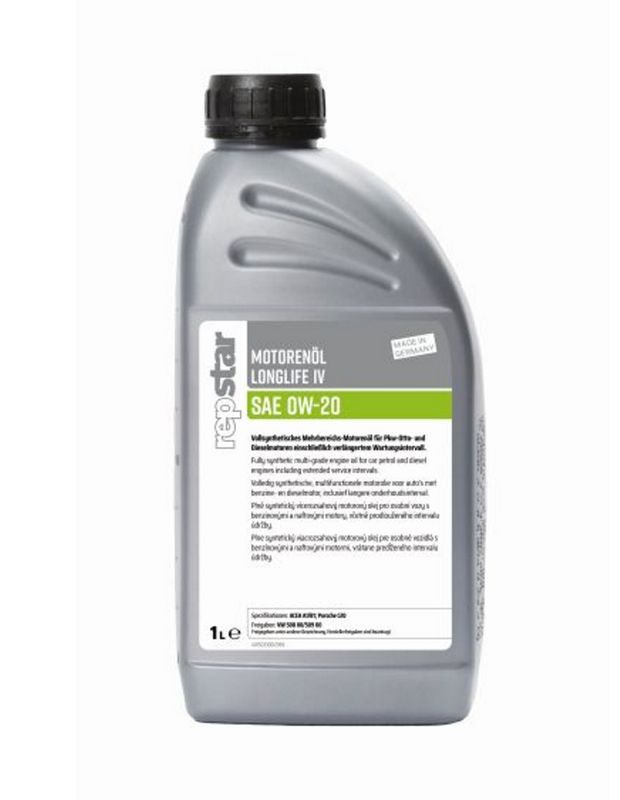 Repstar Motorenöl Longlife VI SAE 0W-20 1 Liter (10,40€/1L) VW508 00/509 00, PorscheC20