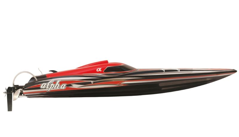Amewi RC Rennboot ALPHA Brushless 4-6S Rot 1060mm 26053 80kmh – Bild 1