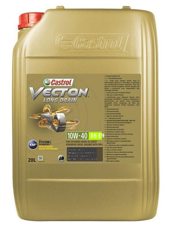 Castrol Motorenöl Vectron Long Drain 10W-40 E6/E9 20l Kanister (5,74€ / 1L)