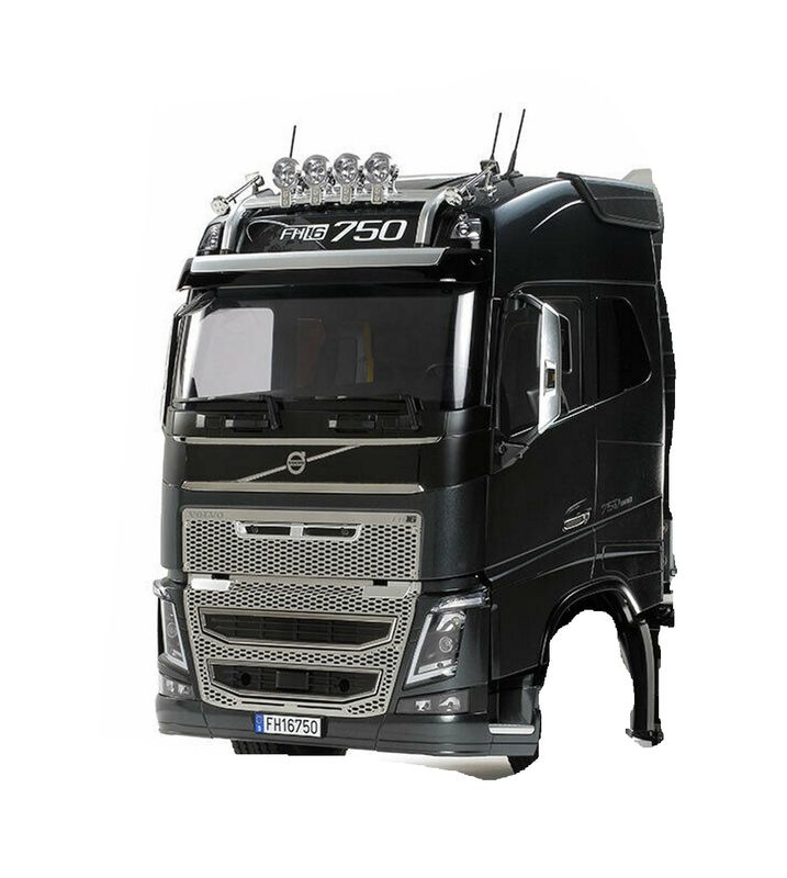 Tamiya 1:14 Fahrerhaus Volvo FH16 Bausatz unlackiert aus 56360 – Bild 1