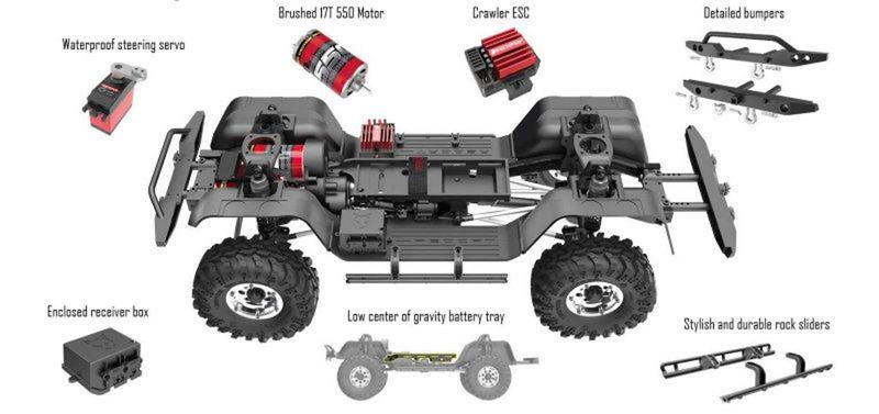 Redcat 1:10 Crawler Gen8 BLUE EDITION RTR RC00005 – Bild 6