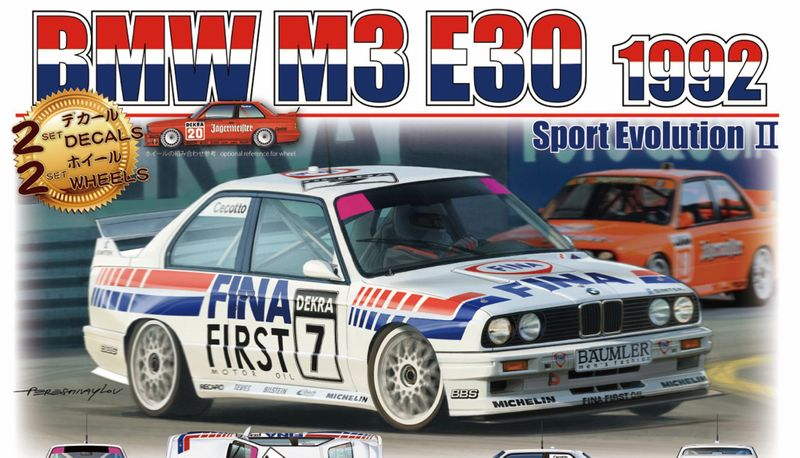 BEEMAX 1:24 BMW M3 E30 DTM 1992 No. 7 & No. 20 Plastik Bausatz 24019 – Bild 1