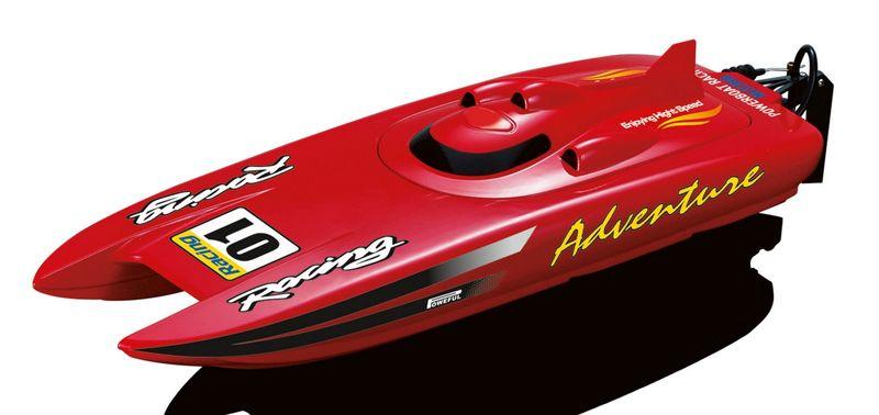 Amewi RC Rennboot Adventure Rot 2,4 GHz 30km/h Katamaran 26070 – Bild 1