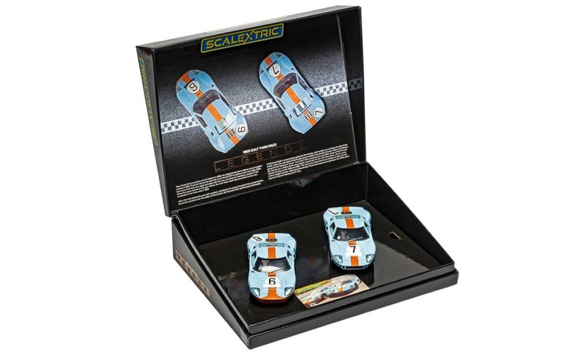 Scalextric 1:32 Ford GT40 1969 Gulf Twin Pack HD C4041A4041A Limited Edition – Bild 2