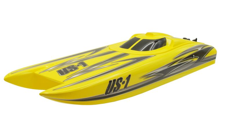 Amewi RC Rennboot Katamaran US1 V2 4S brushless Alpha Flame Yellow 26051 – Bild 2