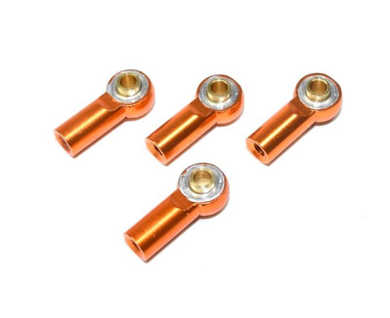 Absima Aluminium Kugelpfannen M3 inkl. Kugelkopf (4) orange 1:10 2330031