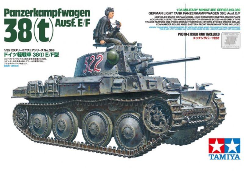 Tamiya 1:35 deutscher Panzerkampfwagen 38(t) Ausf. E/F (1) 35369 – Bild 1