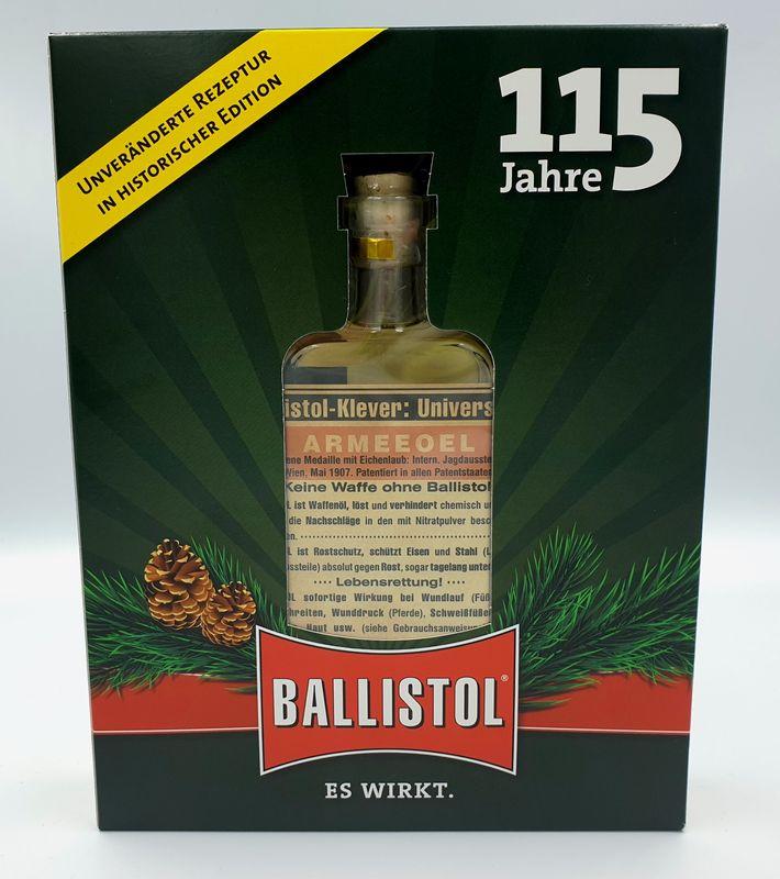 Ballistol Nostalgie Glasflasche in Geschenkbox 100ml (€7,90/1L) 21640 – Bild 2