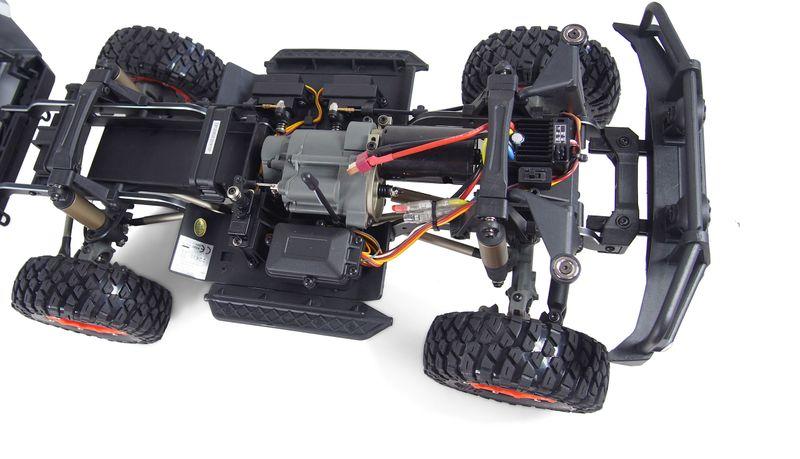 Amewi AMXROCK RCX10P SCALE CRAWLER PICK-UP 1:10, RTR GRAU 22435 – Bild 4