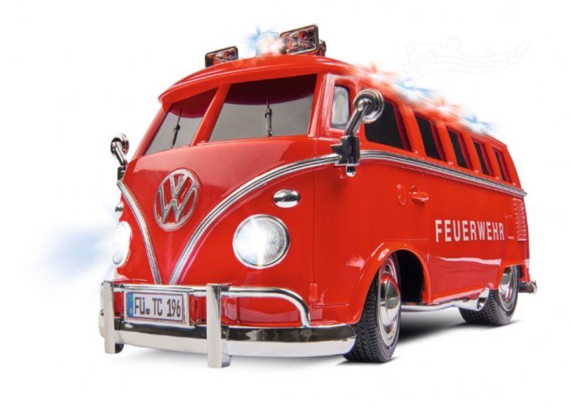 CARSON RC Car 1:14 VW T1 Samba Bus Feuerwehr 100% RTR 500907325