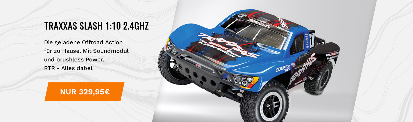 TRAXXAS Slash RTR 1:10 2.4GHz Short Course Racing Truck mit Sound
