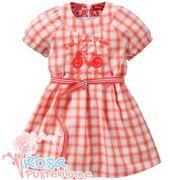 Oilily Kleid DOES mit Stickerei - orange weiß