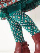 Oilily Strumpfhose Minerva jacquard - smaragdgrün