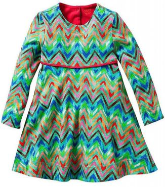 Oilily Jersey Kleid Tineke all-over zigzag - Farbenmix
