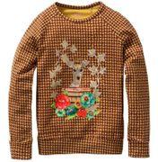 Oilily Shirt Tod Bambi Stickerei Tweedmuster - Braun Ocker