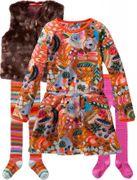 Oilily Jersey Kleid Toop Einhorn all-over painterly - Caramel