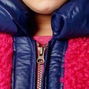 Mim-Pi Winter Mantel - rosa blau