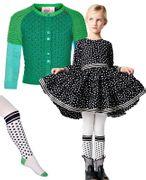 Mim-Pi Kleid lovely Dots - schwarz weiss