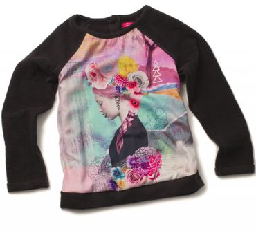 Cakewalk weiches Sweatshirt KIKA GIRL- Deep Charcoal Lila