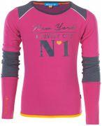 Ninni Vi Langarmshirt NEW YORK - Pink Beetroot Purple