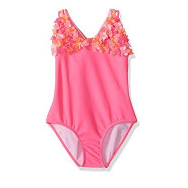 Kate Mack Badeanzug 3-D Blumen - Pink