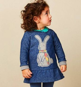 Oilily Sweat Kleid HANUKA Rabbit - Blue