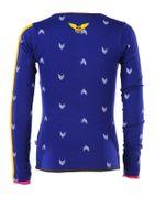 Ninni Vi Langarm Shirt - AOP Dark Blue