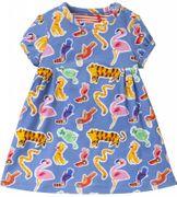 Oilily Kleid TRADA Dschungel Tukan Flamingo Tiger - Blau