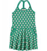 Mim-Pi Kleid Flower geflochtene Träger - Grün