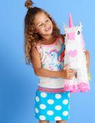 Mim-Pi Kleid Pegasus mit Träger in Regenbogen-Look