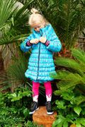 Mim-Pi Winter Mantel Sterne - Grün Pink