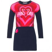 Mim-Pi Kleid Flamingos in Love - Blau Pink